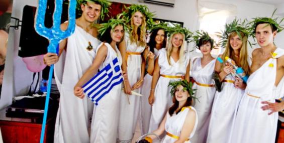 Вечеринка в стиле греческих богов!
